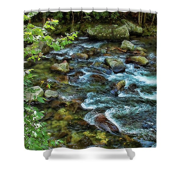 Mountain Music Shower Curtain