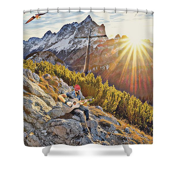 Mountain Of The Lord Shower Curtain