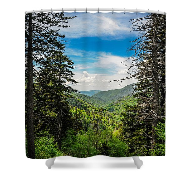 Mountain Pines Shower Curtain