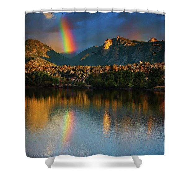 Shower Curtain featuring the photograph Mountain Rainbows by John De Bord