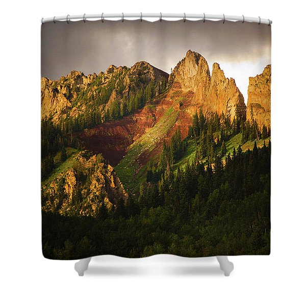 Mountain Storm Light Shower Curtain