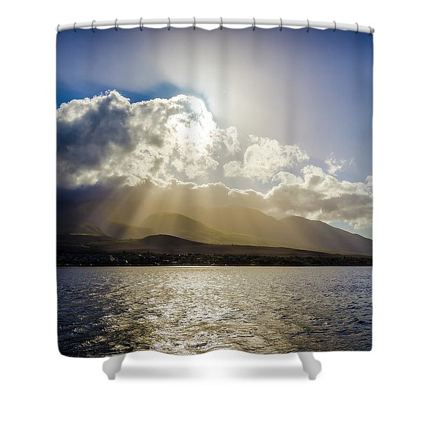 Mountain Sunbeams Shower Curtain