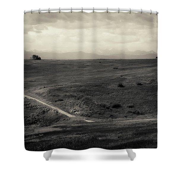 Mountain Trail Shower Curtain