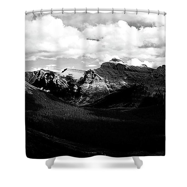 Mountain Valley Landscape Shower Curtain