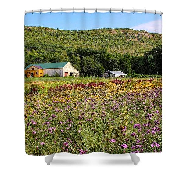 Mountain View Farm Easthampton Shower Curtain