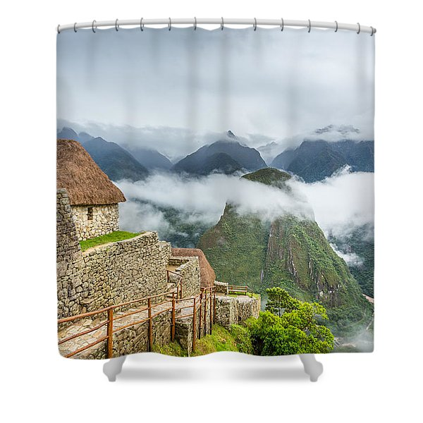 Mountain View. Shower Curtain