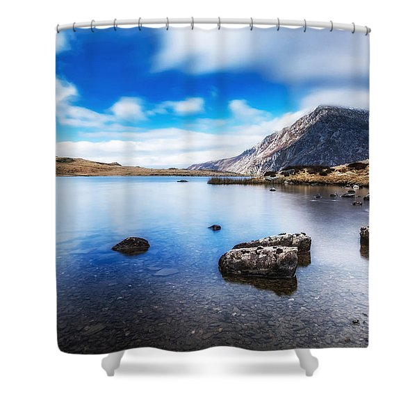 Shower Curtain featuring the photograph Mountain View by Nick Bywater