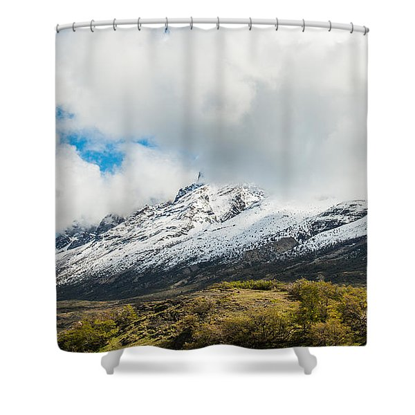 Mountain View Patagonia Chile Shower Curtain