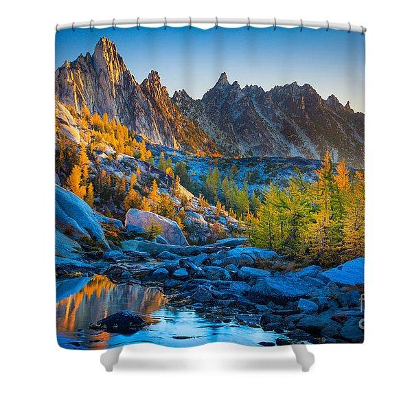 Mountainous Paradise Shower Curtain