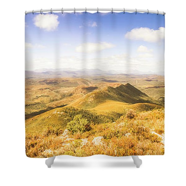 Mountains And Open Spaces Shower Curtain