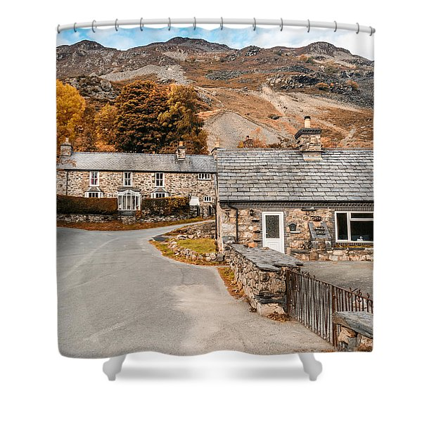 Shower Curtain featuring the photograph Mountains In The Back Yard by Nick Bywater