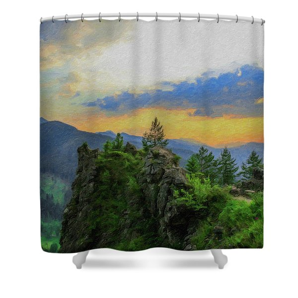 Mountains Tatry National Park - Pol1003778 Shower Curtain