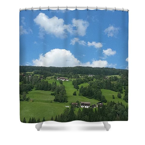 Moutain With Blue Sky Shower Curtain