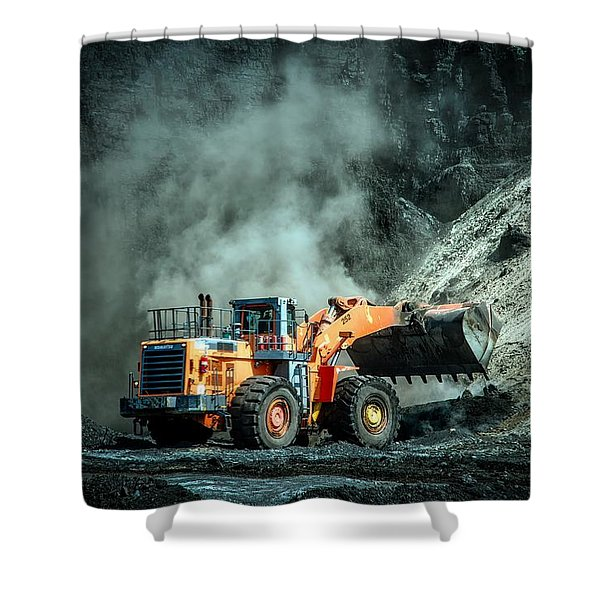 Moving Coal Shower Curtain