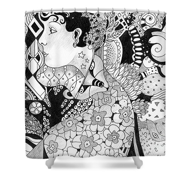 Moving In Circles Shower Curtain