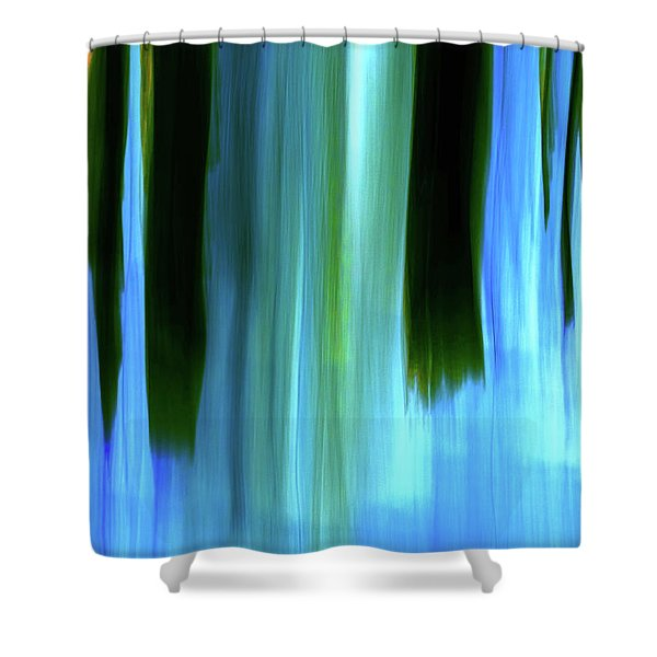Moving Trees 37-05 Portrait Format Shower Curtain