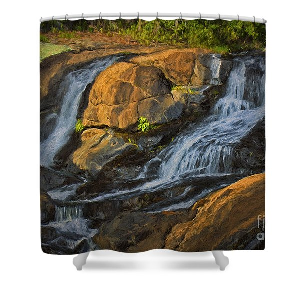 Moving Water Shower Curtain