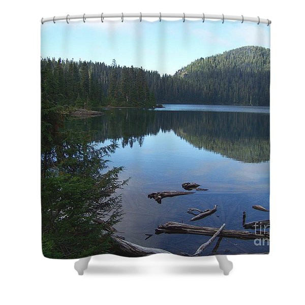 Mowich Lake Reflection Shower Curtain