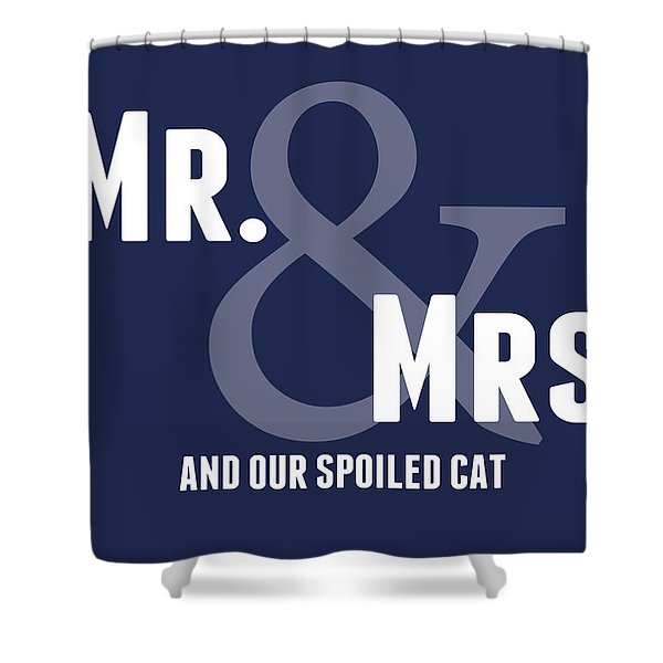 Mr And Mrs And Cat Shower Curtain