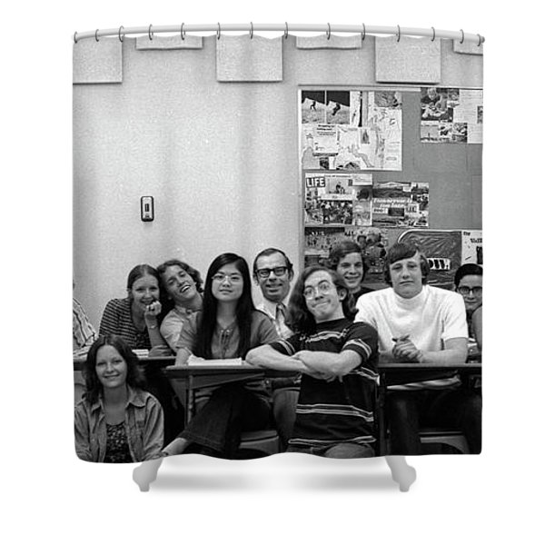 Mr Clay's Ap English Class - Cropped Shower Curtain