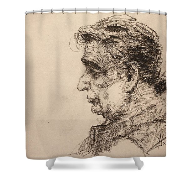mr R Shower Curtain