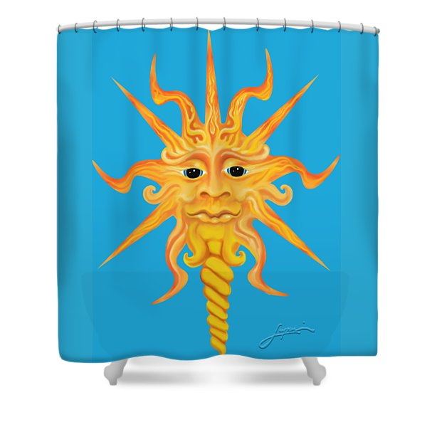 Mr. Sunface Shower Curtain