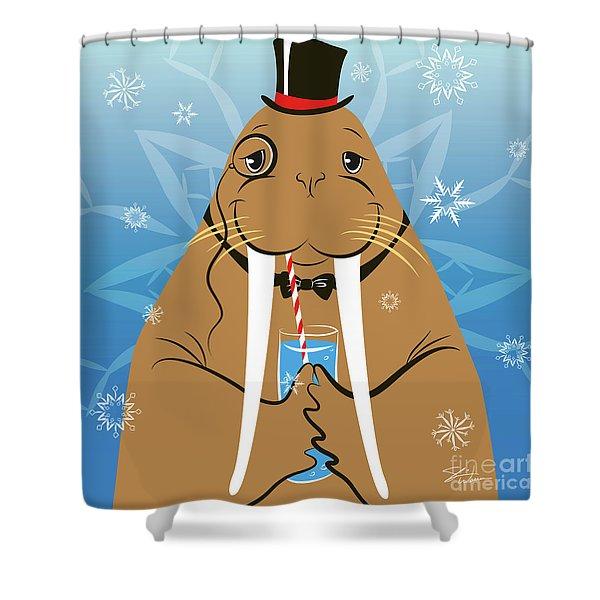 Mr. Walrus Shower Curtain