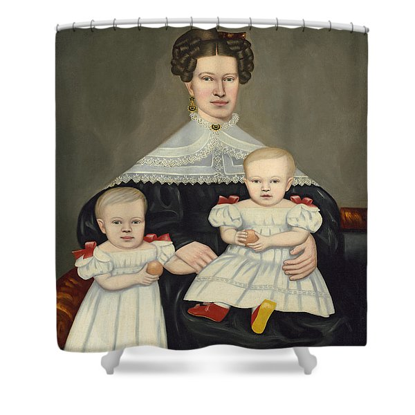 Mrs Paul Smith Palmer And Her Twins Shower Curtain