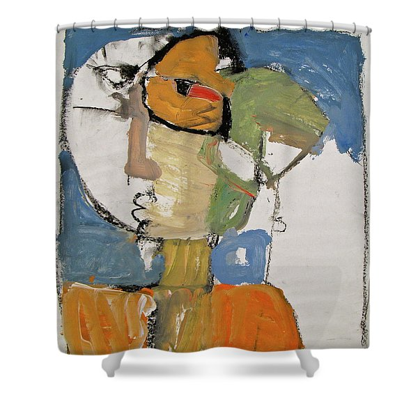 Shower Curtain featuring the painting Ms Abby Strac Had One Good Eye by Cliff Spohn