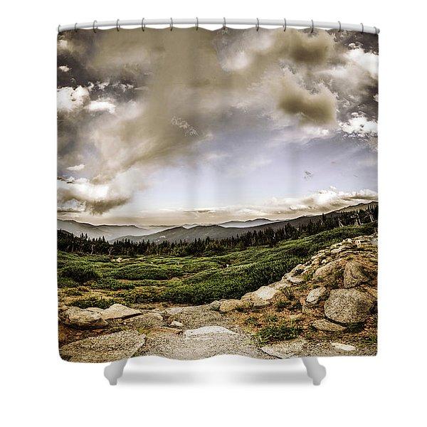 Mt. Evans Alpine Vista #2 Shower Curtain