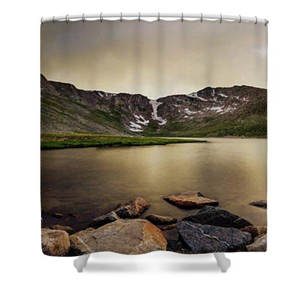 Mt. Evans Summit Lake Shower Curtain