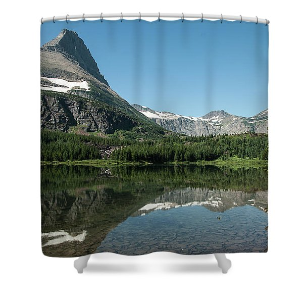 Mt. Grinnell Across Red Rock Lake Glacier National Park Shower Curtain