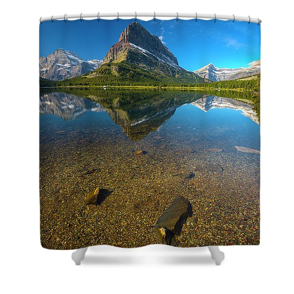 Mt. Grinnell Shower Curtain