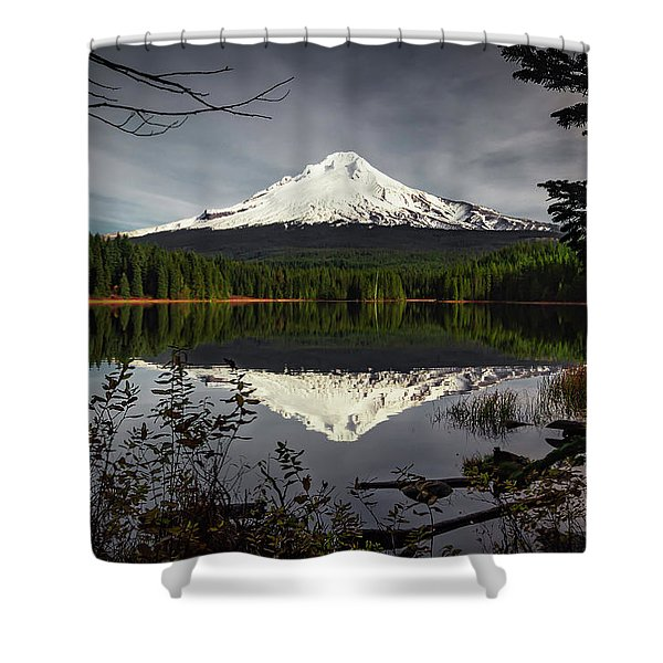 Mt Hood Reflection Shower Curtain