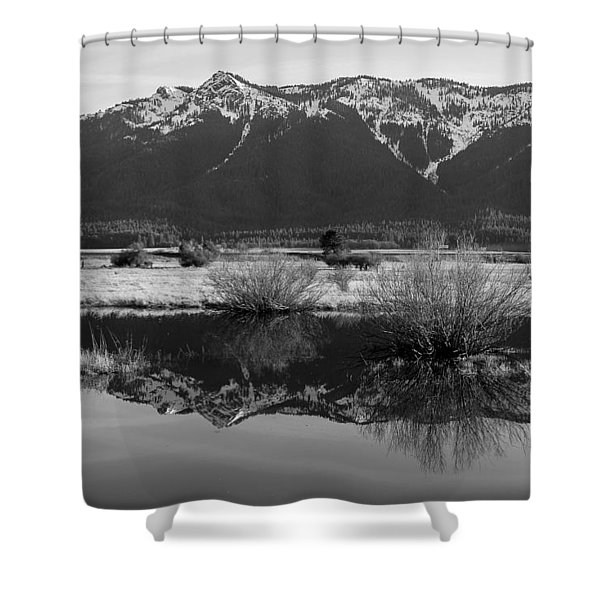 Mt. Hough Reflection Shower Curtain