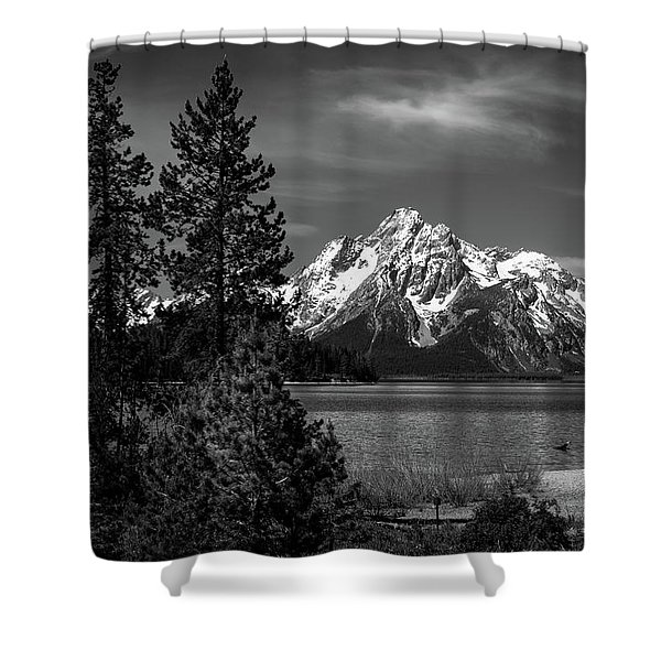 Mt. Moran And Trees Shower Curtain