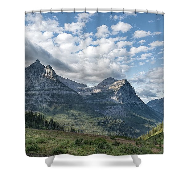 Shower Curtain featuring the photograph Mt. Oberlin From Logan Pass by Jemmy Archer
