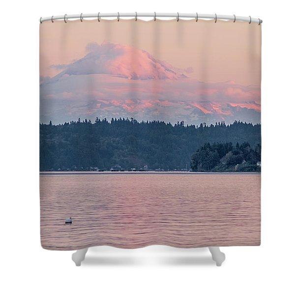 Mt. Rainier At Sunset Shower Curtain