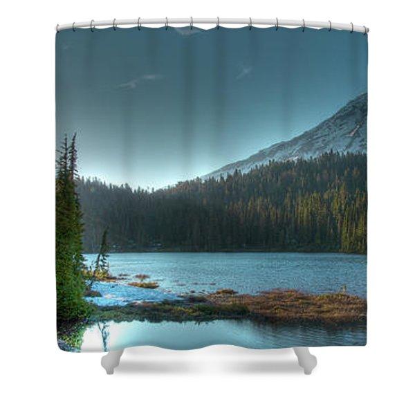 Mt. Rainier Sunrise Shower Curtain