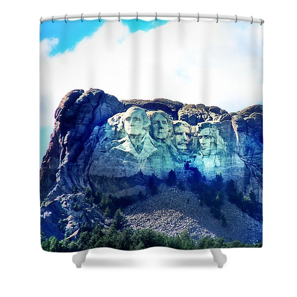 Mt. Rushmore - Presidents Shower Curtain