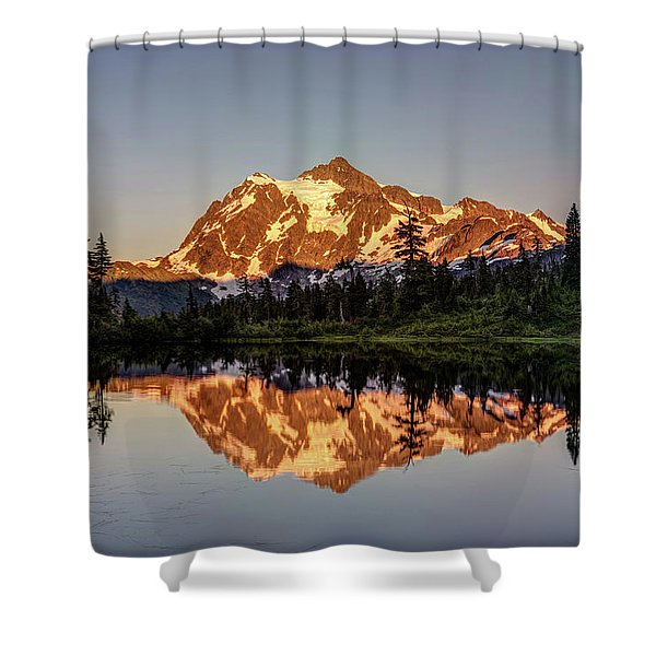 Mt Shuksan Reflection Shower Curtain
