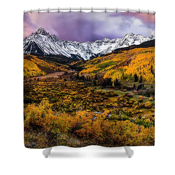 Mt. Sneffels Fall Colors Shower Curtain