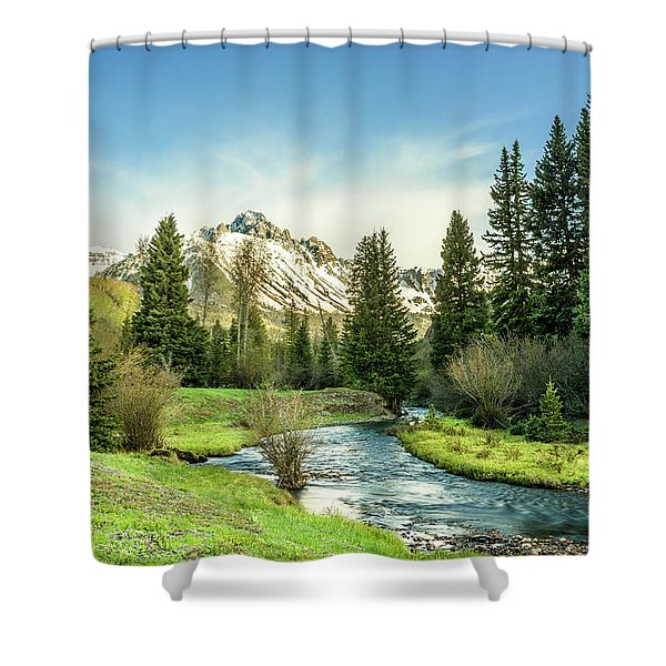 Mt. Sneffels Peak Shower Curtain