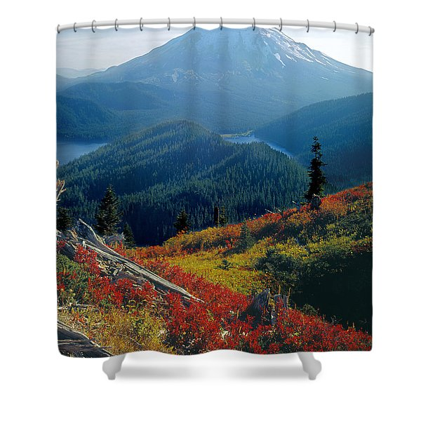 1m4903-mt. St. Helens 1975  Shower Curtain