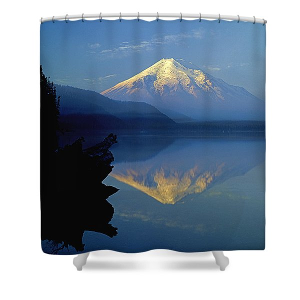 1m4907-v-mt. St. Helens Reflect V  Shower Curtain
