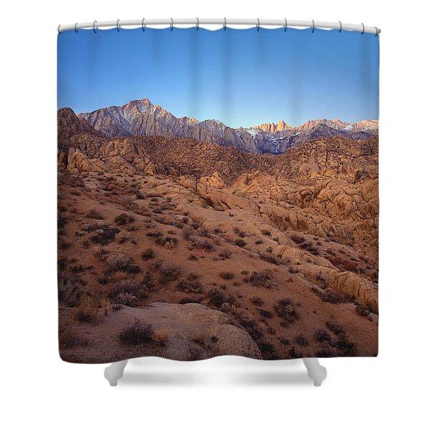 Mt. Whitney Dawning Light Shower Curtain
