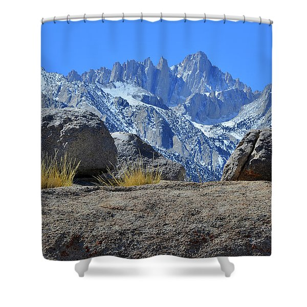 Mt. Whitney - Highest Point In The Lower 48 States Shower Curtain