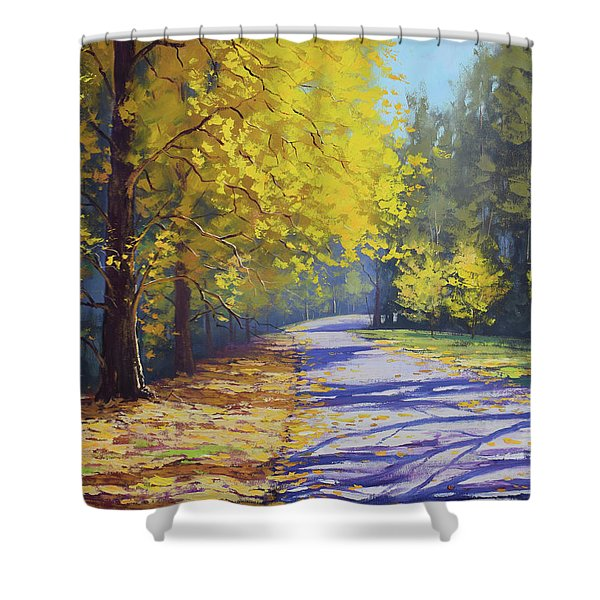 Mt Wilson Gold Shower Curtain