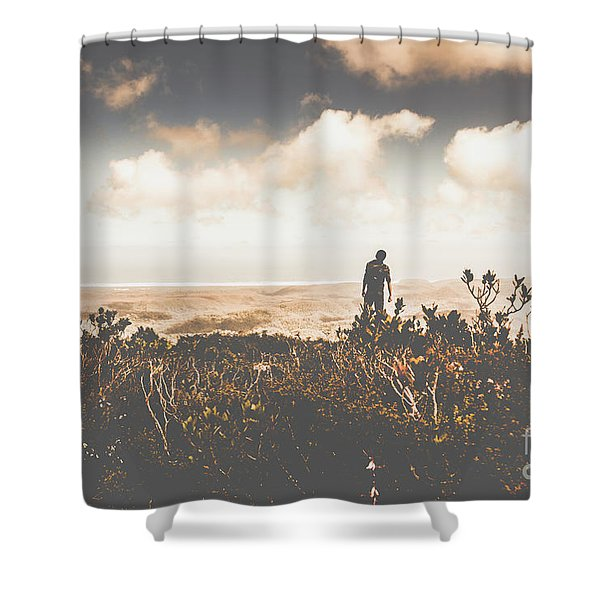 Mt Zeehan Backpacker  Shower Curtain