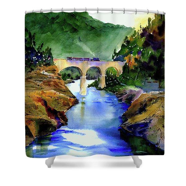 Mtn Quarries Rr Bridge Shower Curtain